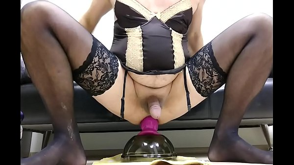 Sissy, Purple, Dildo riding