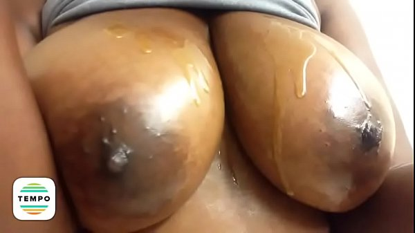 Huge tits, Oily