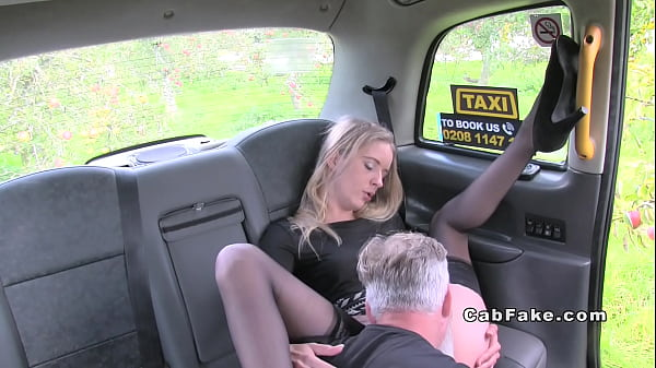 Footjob, Fake taxi, Fake, Stockings, Fakes