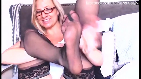 Black, Stockings feet, Stocking milf, Milf stocking